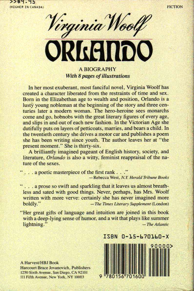 an analysis of the character orlando by virginia woolf